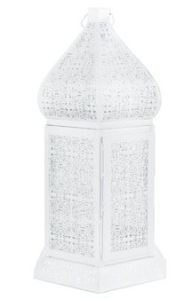 White moroccan latern