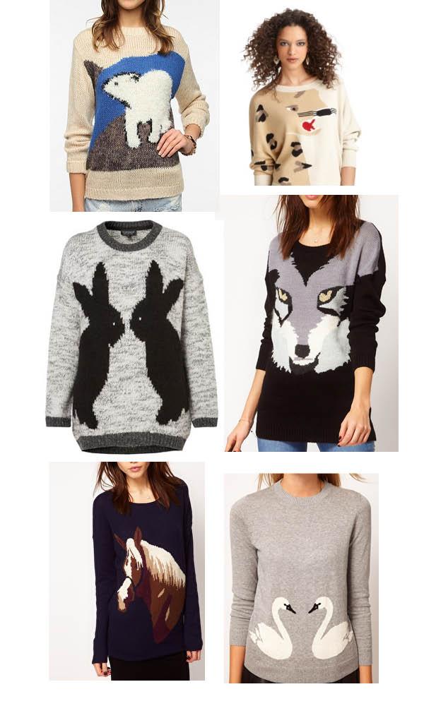 ... sweater bar iii leopard sweater topshop bunny sweater warehouse wolf