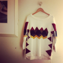 sandro-fringe-southwest-sweater