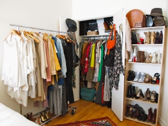 Day 2 : My NYC walk-in closet, aka my bedroom