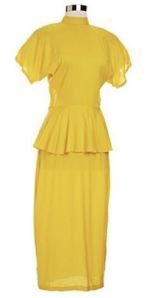 yellow peplum dress